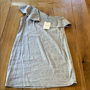 Theory One Should Linen Chambray Dress 00